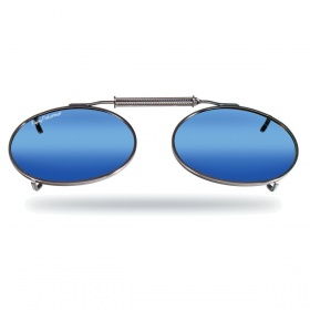 Накладки Fly Fish 7506SM Clip-On / Large Oval, Assorted, Smoke/Blue Mirror