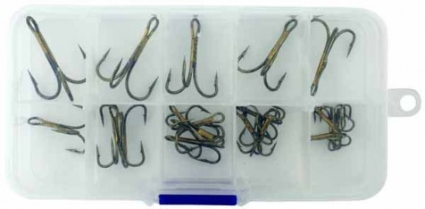 Набор крючков Abu Garcia Terminal Tackle Kits Assorted Treble Hooks (20шт)